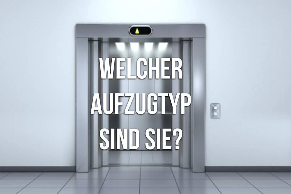 Aufzug Knigge: Welcher Fahrstuhltyp sind Sie?