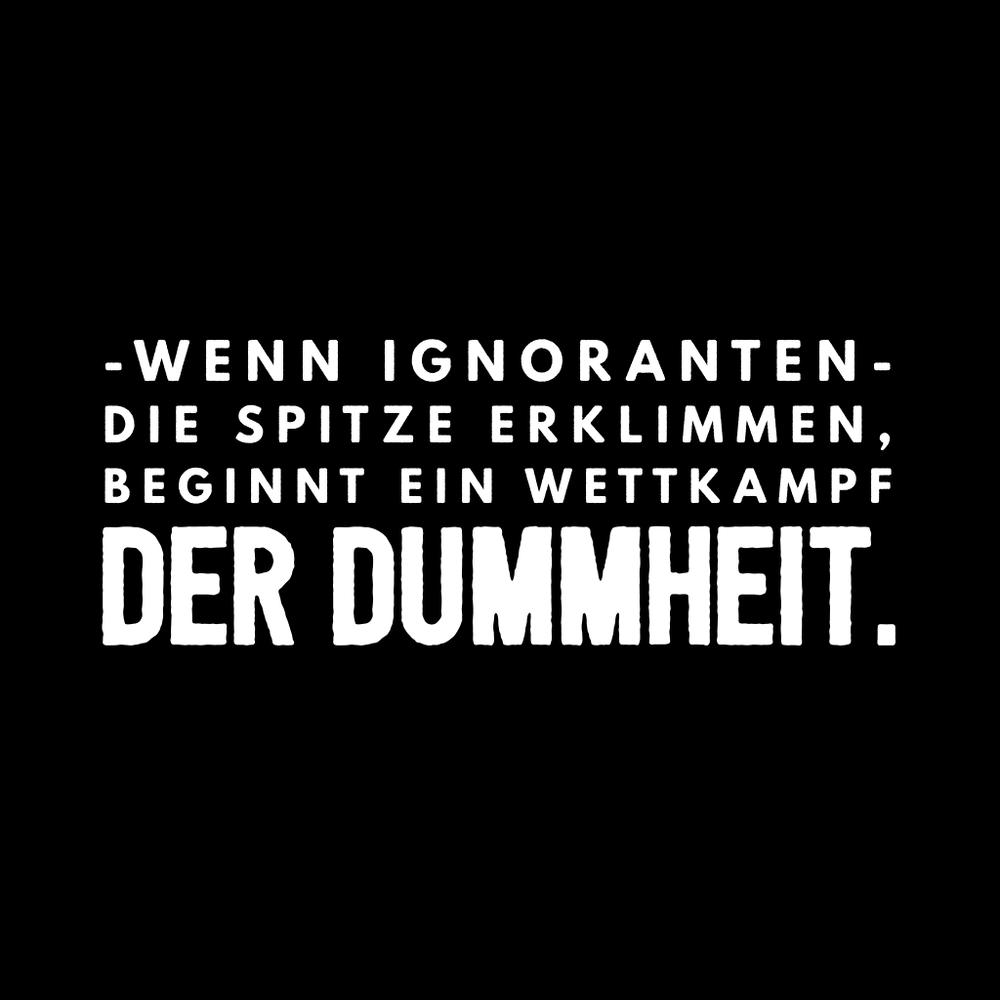 Ignoranz-Dummheit