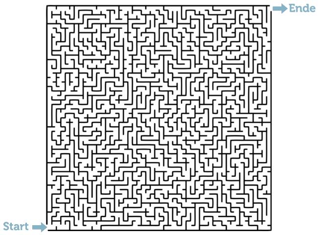 Konzentrationsuebung Labyrinth Beispiel