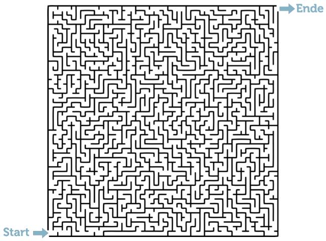 Labyrinth-Konzentrationsübung