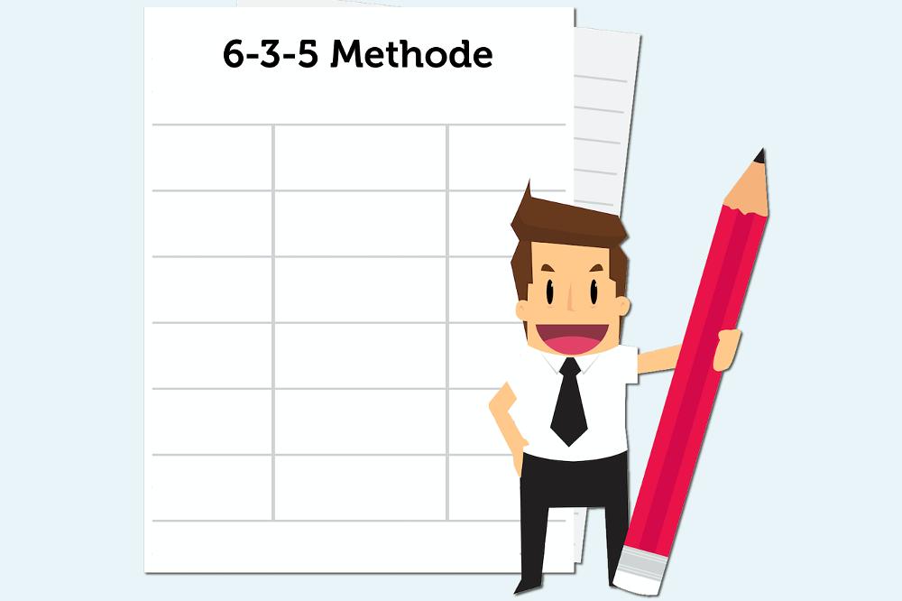 Wie funktioniert die 6-3-5 Methode