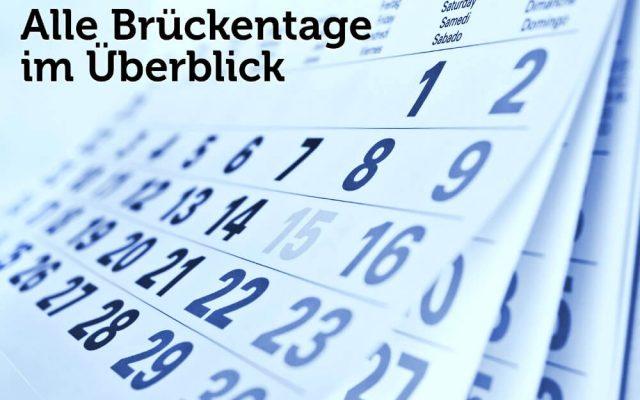 Brueckentage Uebersicht Urlaubstage Kalender