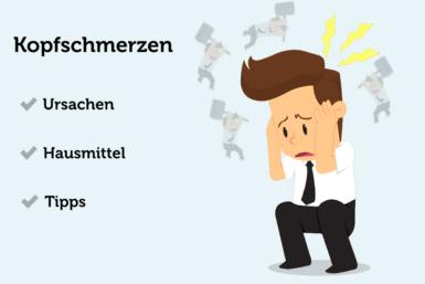 Kopfschmerzen: Ursachen, Hausmittel, Tipps