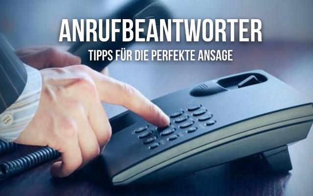 Anrufbeantworter besprechen Tipps Ansage