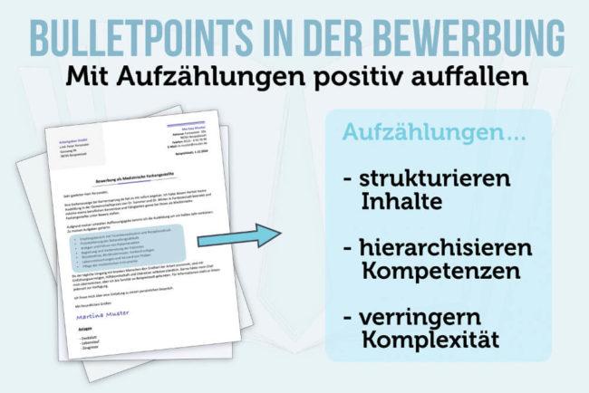 Bewerbung Aufzählung: Mit Bulletpoints punkten