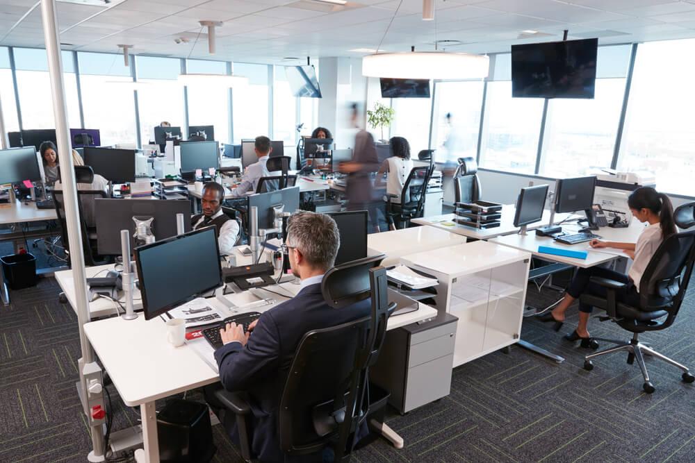 moderne burokonzepte grundriss, großraumbüro: regeln, vor- und nachteile | karrierebibel.de, Design ideen