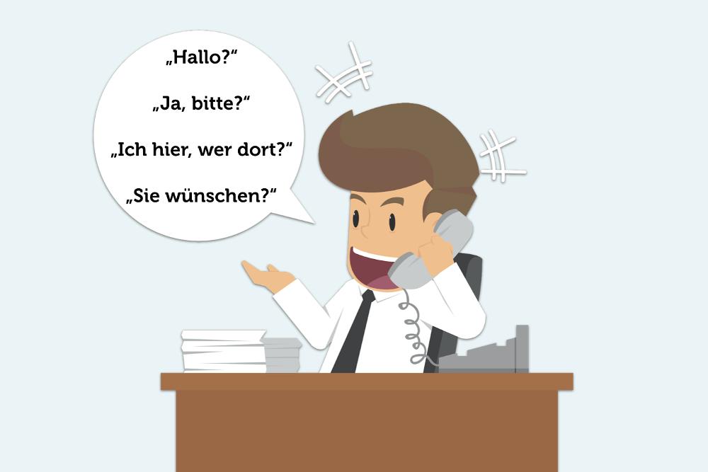 Professionell telefonieren Telefon guide Knigge Gespraech