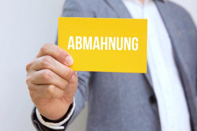Abmahnung im Arbeitsrecht: Warnschuss vom Chef