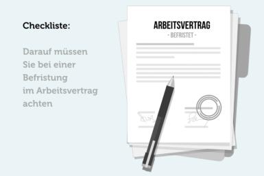 Befristeter Arbeitsvertrag: Checkliste bei Befristung