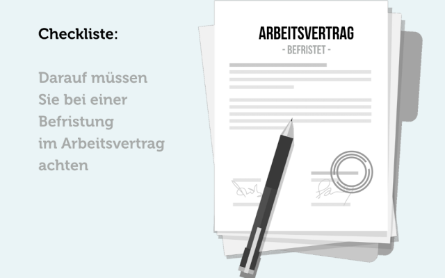 Befristung Arbeitsvertrag Checkliste Arbeitsrecht