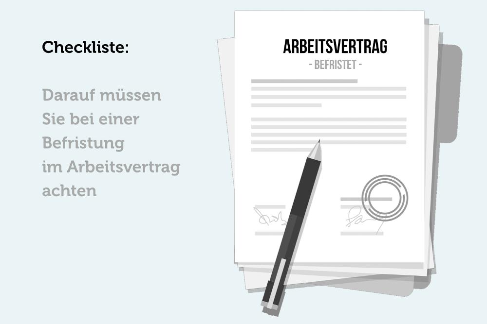 befristeter arbeitsvertrag checkliste bei befristung - Anderung Arbeitsvertrag Muster