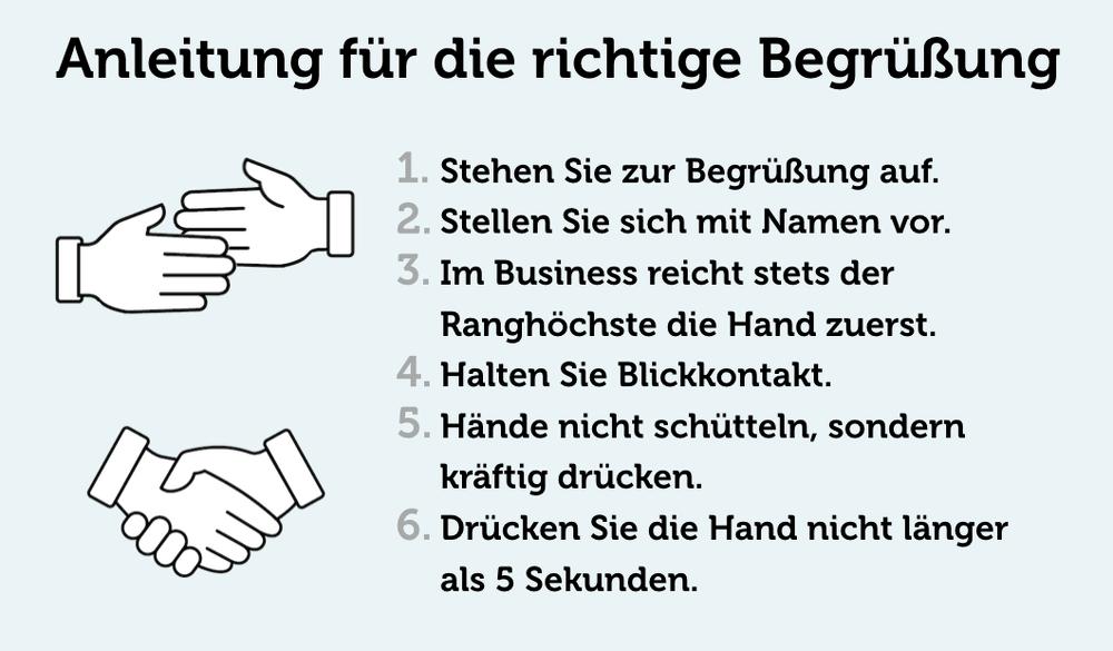 Begruessung Anleitung Grafik Handschlag