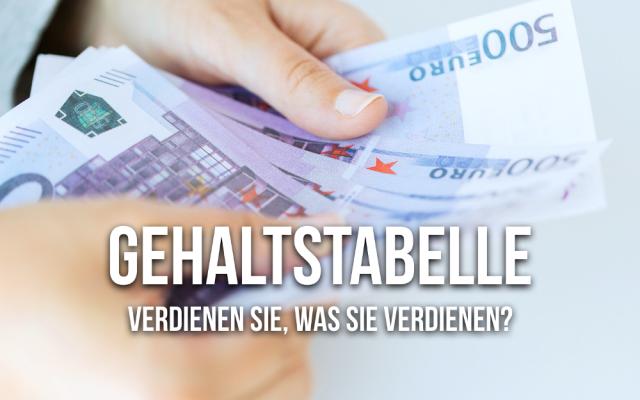 Gehaltstabelle Verdienen Einkommen Uebersicht Lohn