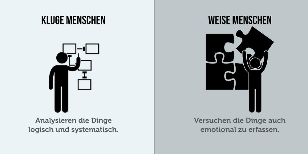 Klug Weise Unterschied Grafik 01