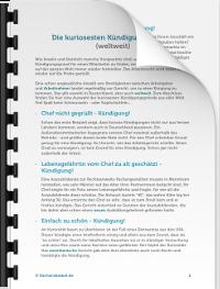 Kündigung Regeln Rechte Muster Für Arbeitnehmer Karrierebibelde