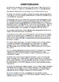 arbeitszeugnis muster vorlage beispiel pdf download - Schlechtes Arbeitszeugnis Beispiel