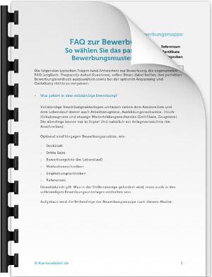 bewerbungsmuster faq - Bewerbung Muster Download