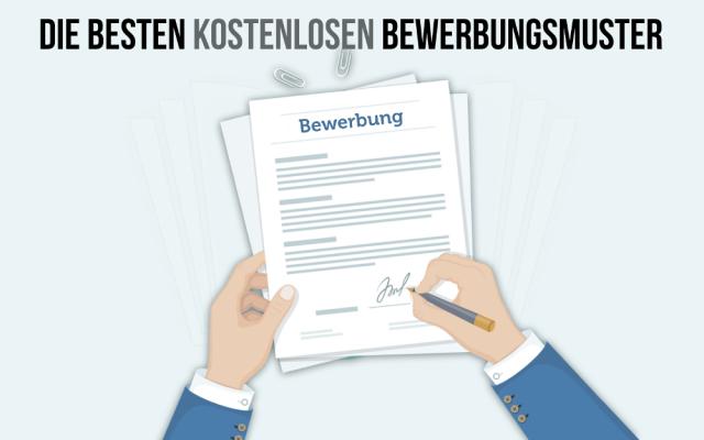 Bewerbungsmuster kostenlos Vorlagen Gratis Download Word PDF