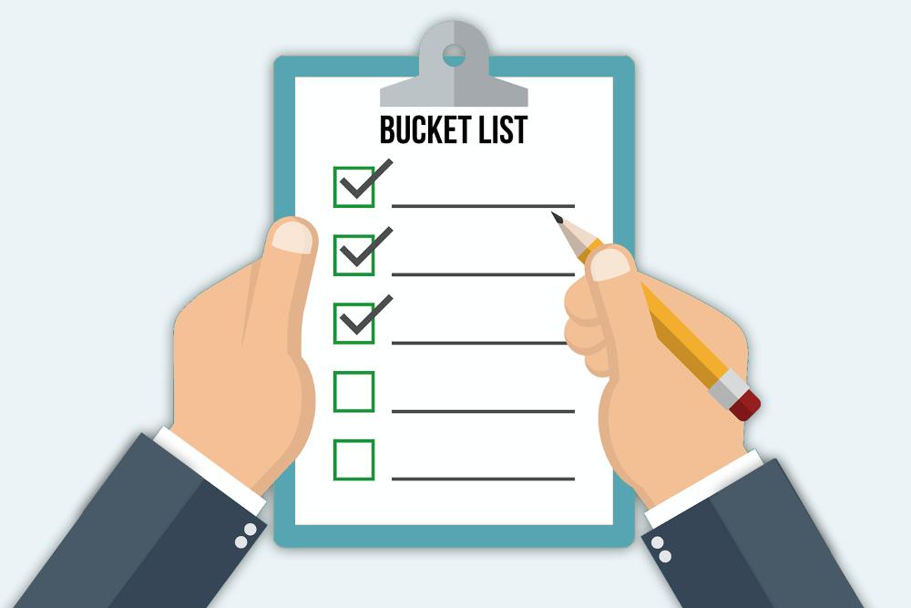 Bucket List erstellen: Ideen und Beispiele