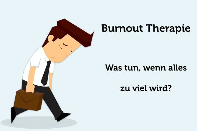 Burnout Therapie Behandlung was tun Grafik