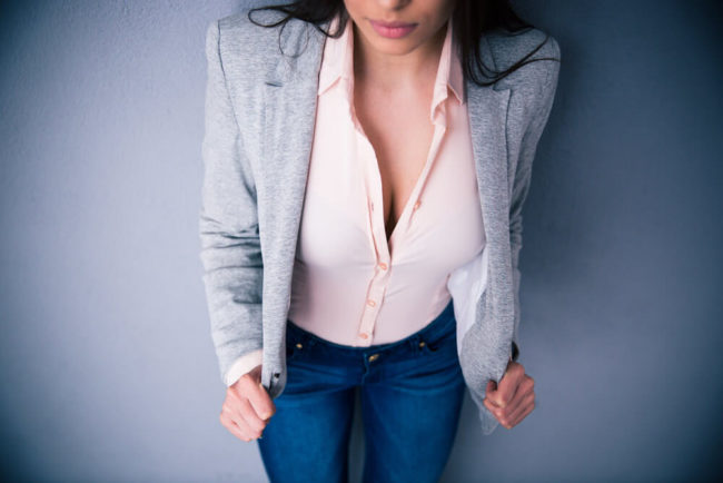 Dekollettee Tiefer Ausschnitt Frau Bewerbung Bewerbungsbild