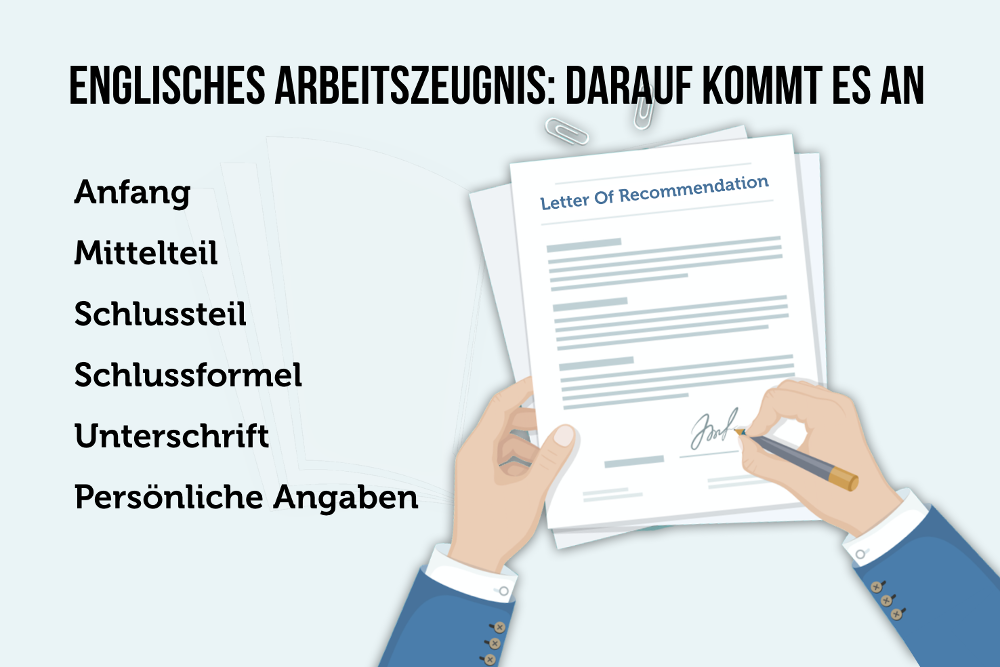 Englisches Arbeitszeugnis Recommendation Letter Letter of Reference