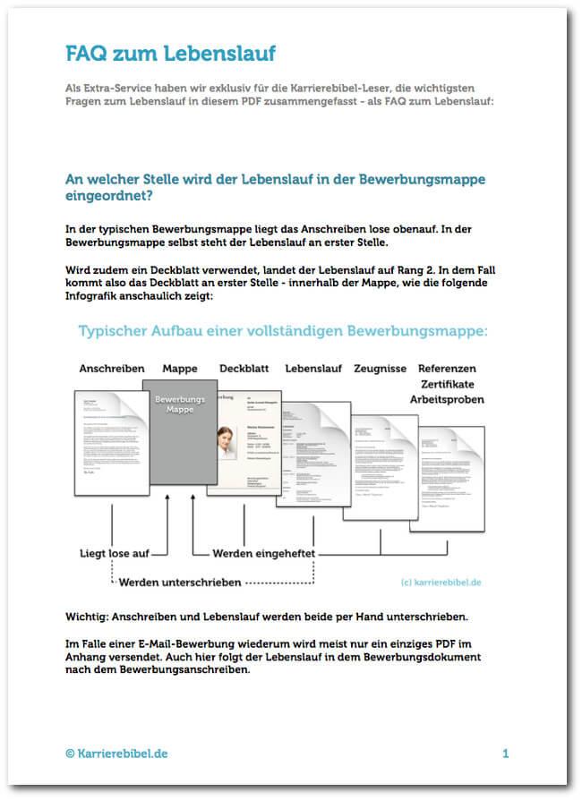 Lebenslauf: Aufbau, Beispiele, 40 kostenlose Vorlagen | karrierebibel.de