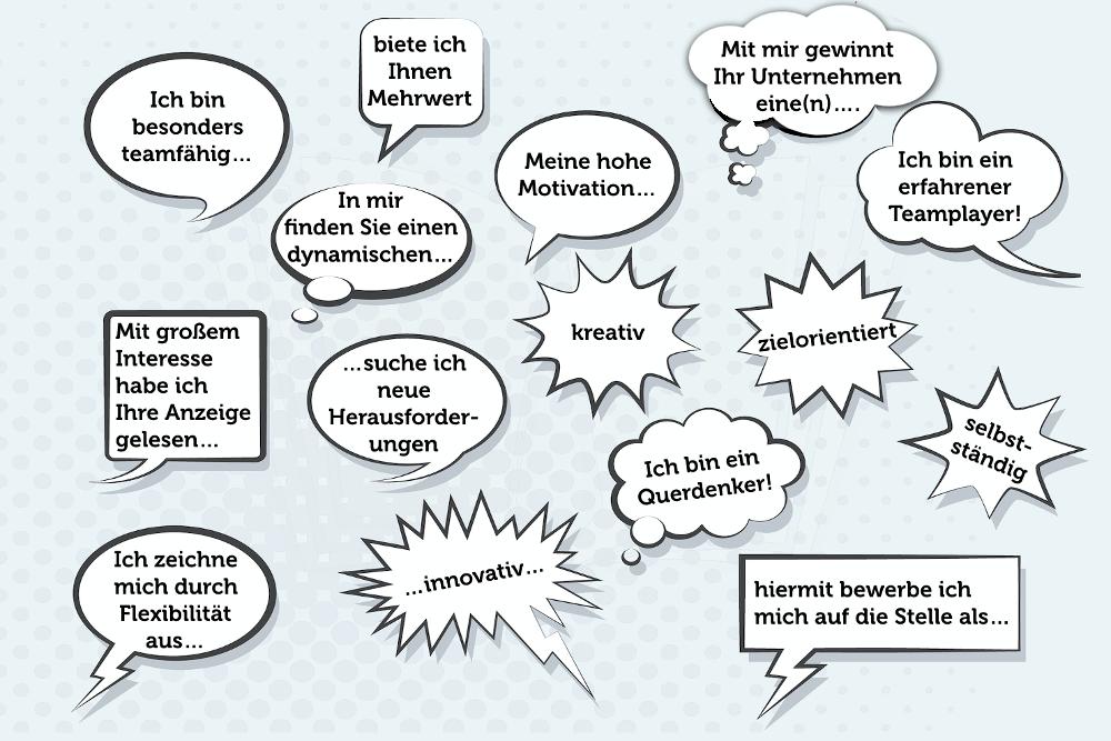 Bewerbung Floskeln Phrasen teamfähig Sätze Teamplayer