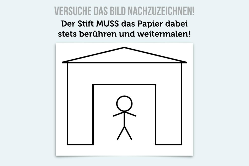 Brainteaser Zeichnung Haus Denksport