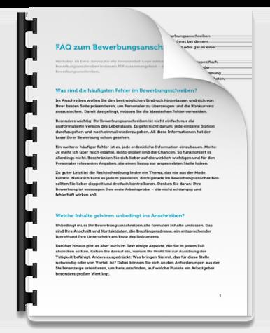 Erfolgreich bewerben FAQ Bewerbungsanschreiben