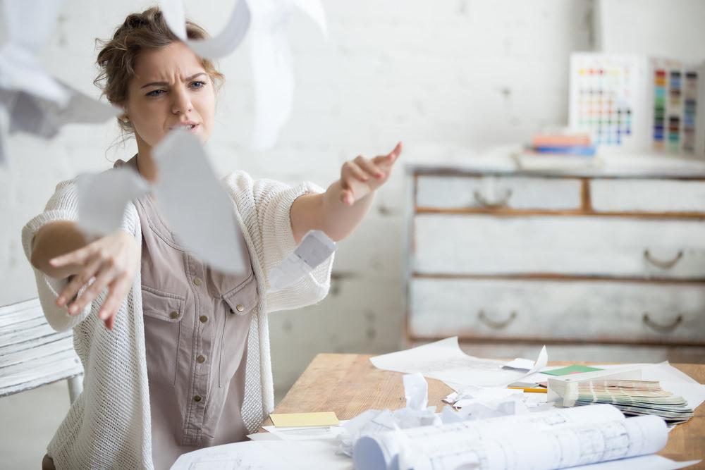 Bewerbungsstress Frust Stress Aufregung Dokumente