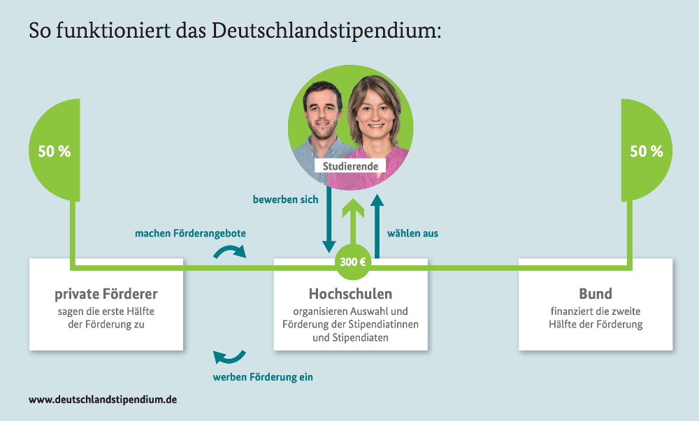 Deutschlandstipendium Funktionsweise BMBI Grafik