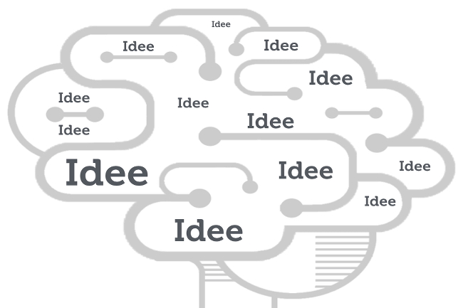 Gehirn Idee Kreativität Gedanke Parasit Grafik