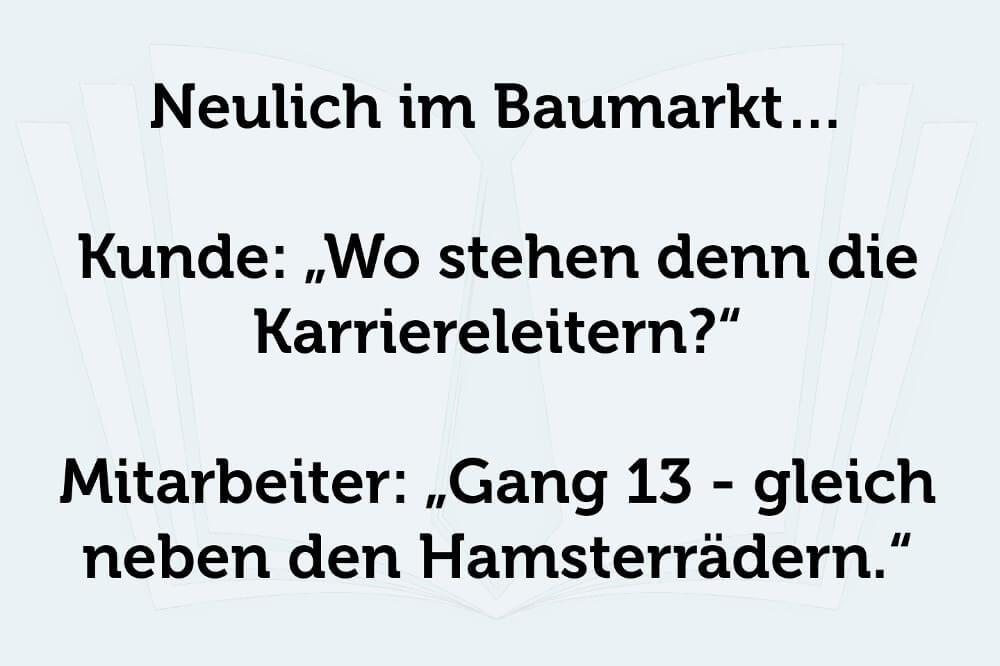 Hamsterrad Spruch Karriereleiter Baumarkt