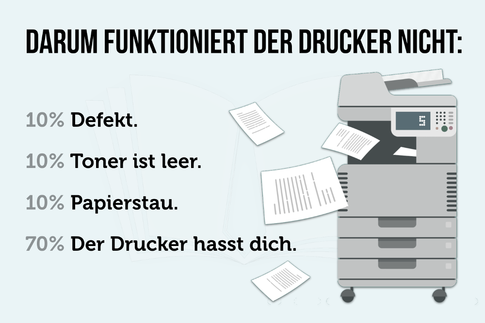 Drucker defekt Toner leer Papierstau