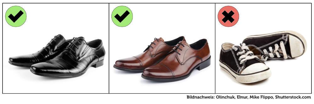 Kleidung Vorstellungsgespraech Mann Herren Schuhe Grafik