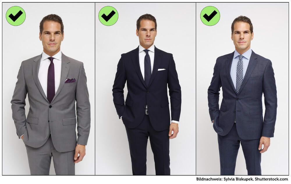 Kleidung Vorstellungsgespraech Mann Herren richtig Grafik
