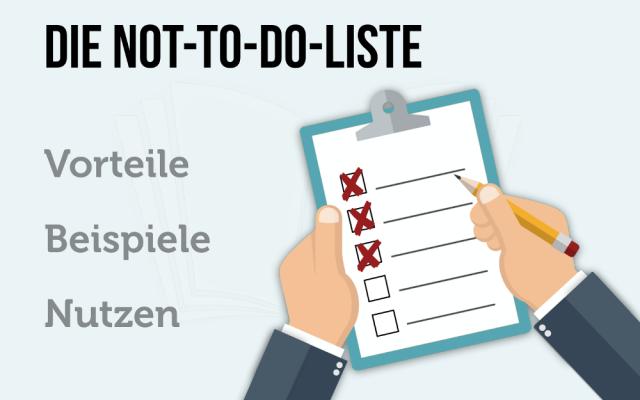 Not to do liste Beispiele Anleitung Checkliste