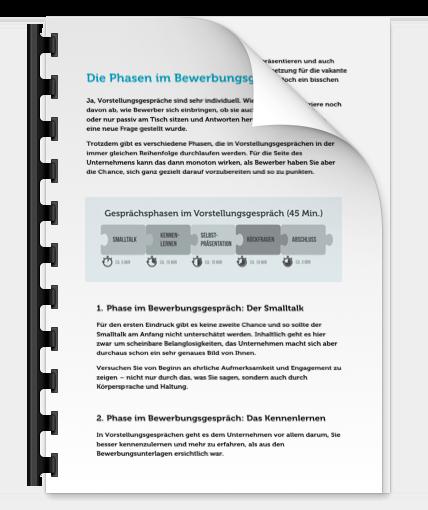 Vorstellungsgespraech PDF Bewerbungsgespraech Phasen Vorbereitung