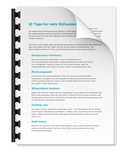 Enthusiasmus steigern Tipps PDF Liste