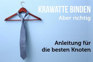 Krawatte binden: Tipps für den Krawattenknoten