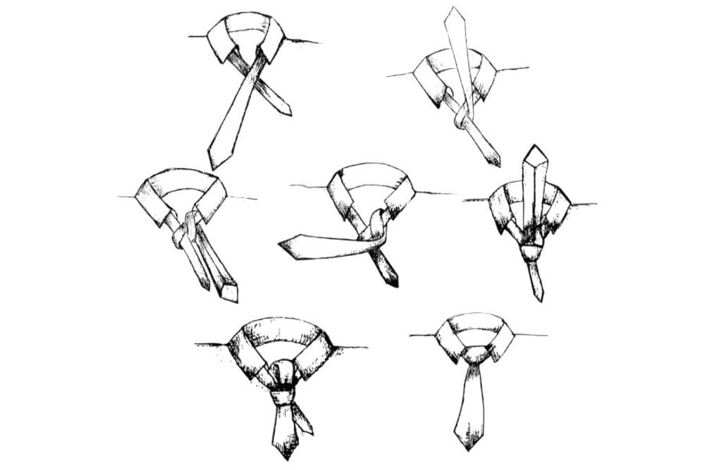 Krawatte binden Einfacher Windsor Knoten