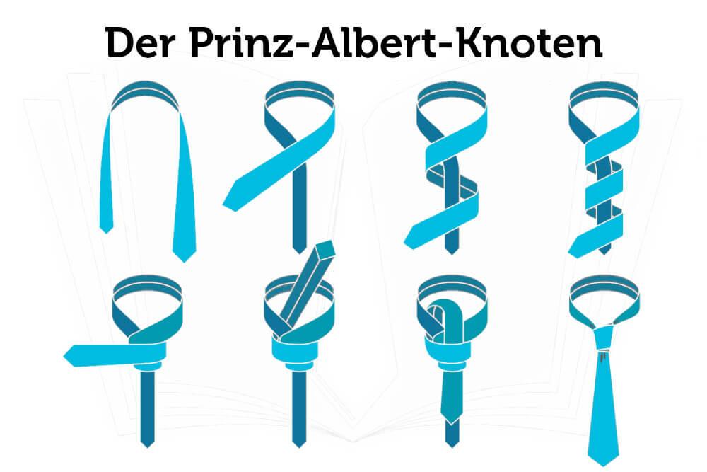 Krawatte Binden Prinz Albert Knoten Anleitung