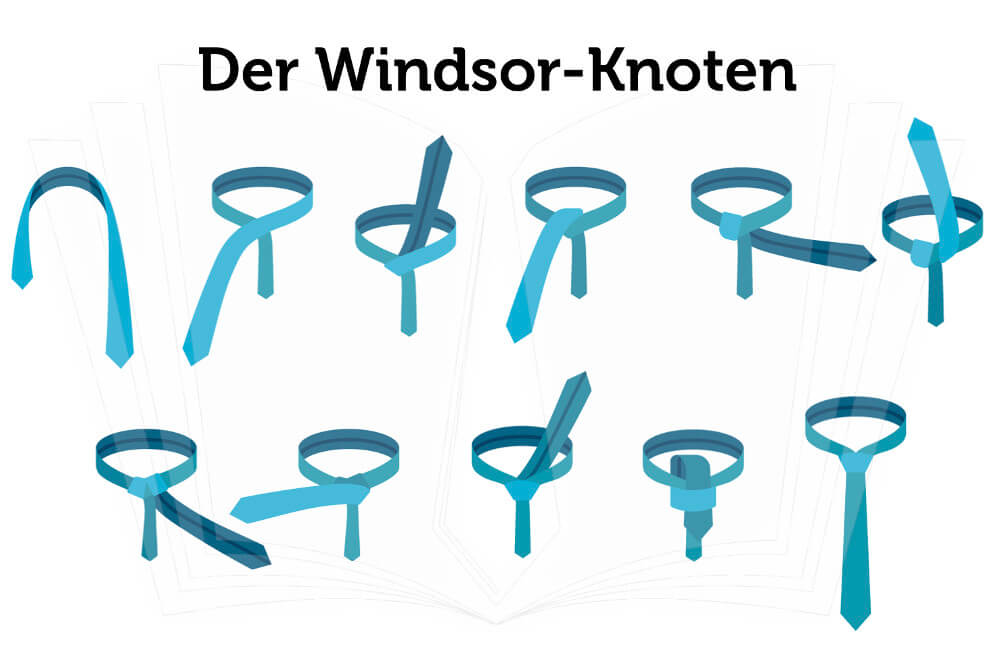 Krawatte Binden Windsor Knoten Anleitung