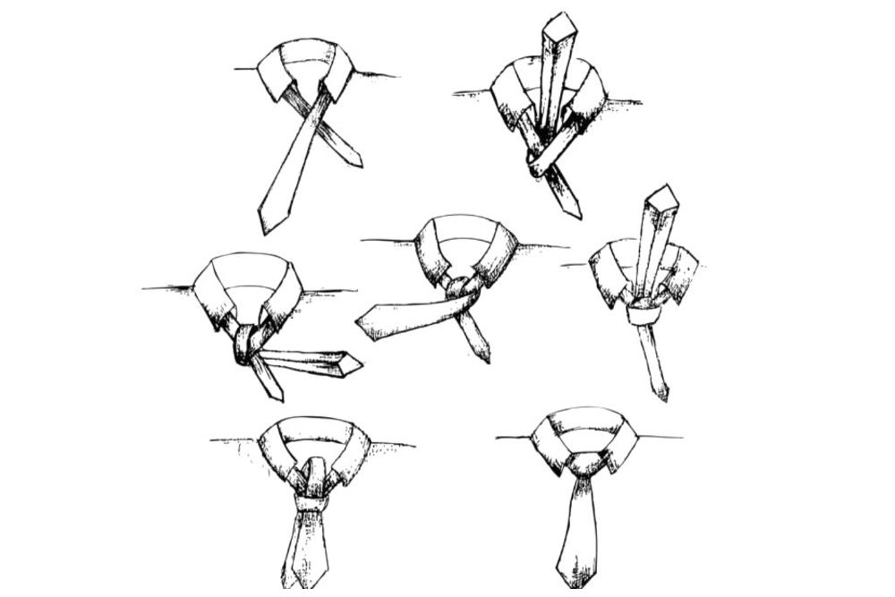 Krawatte binden Windsorknoten