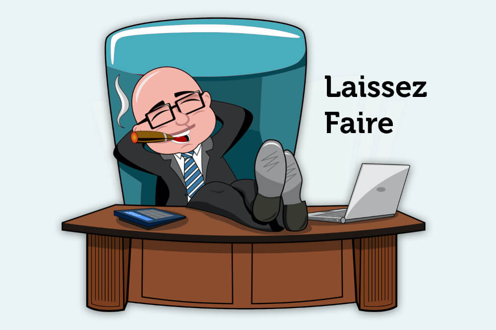 Laissez faire Fuehrungsstil Definition Erziehung Management