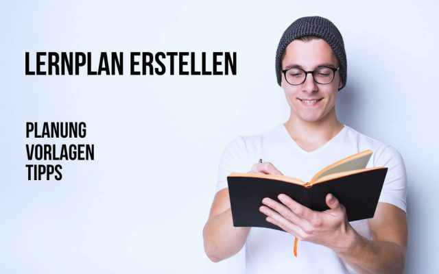 Lernplan erstellen Tipps Vorlagen zum Ausdrucken Ausfuellen Planung