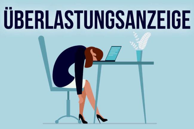 überlastungsanzeige Sorry Chef Ich Kann Nicht Mehr