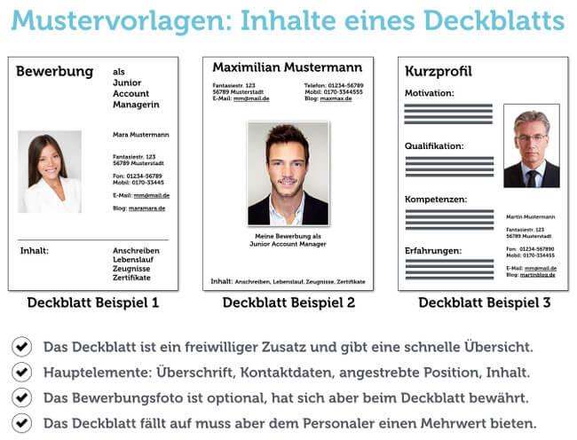 Bewerbung Muster PDF Word Download Gratis Deckblatt Beispiel