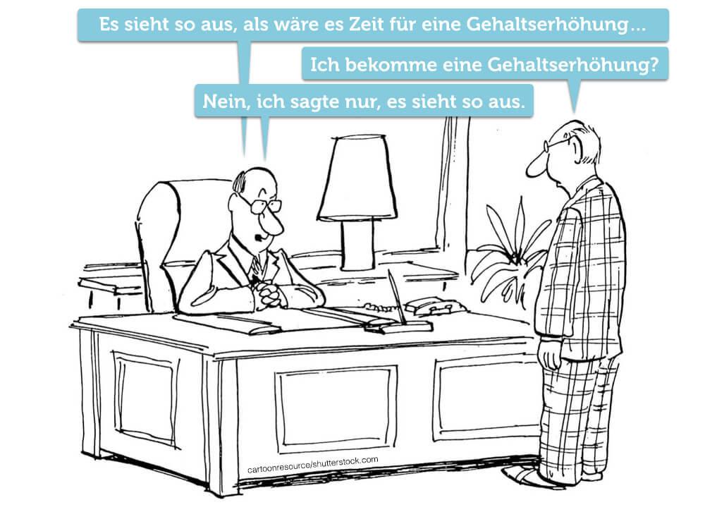 Gehaltserhoehung Comic Cartoon Humor